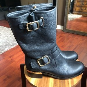 Vince Camuto black leather boots
